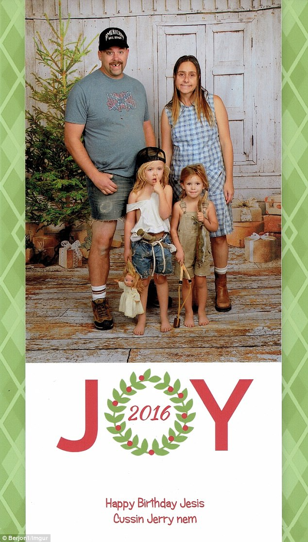 Couple Famed For Funny Christmas Cards Debuts 2017 Version