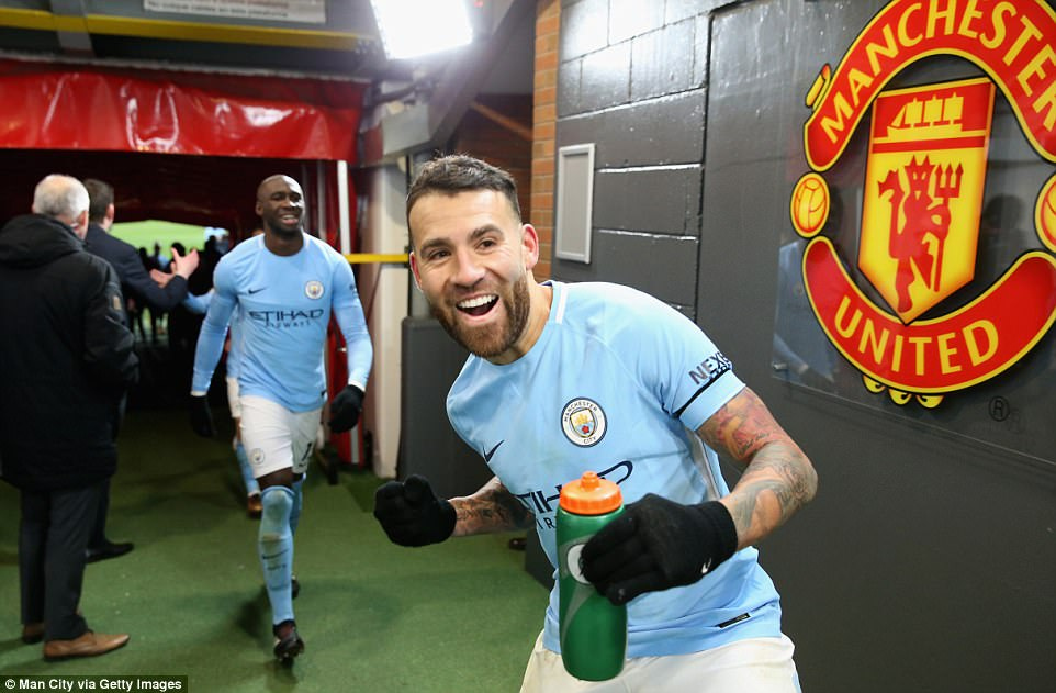 The City players were celebrating wildly in the tunnel after the match had finished, which started an altercation