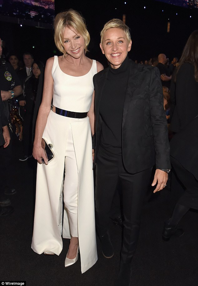 Up in smoke! Portia de Rossi surveys wildfire devastation after she and wife Ellen DeGeneres were forced to flee their $23 million Californian mansion