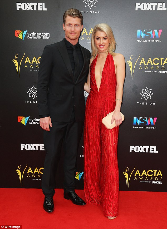 Case of the ex:Alex - who is now in a relationship with Maegan Luxa and are now engaged - split from Richie Strahan (seen), earlier this year