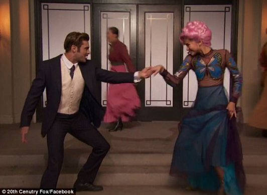 Care to dance? Zac Efron, 30, and Zendaya, 21, showed off their singing and dancing skills in the extended ad for the forthcoming film