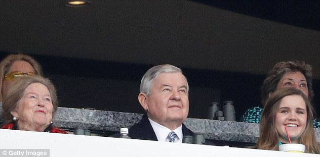 Under Fire: Jerry Richardson is seen watching the Panthers play at home on Sunday, as the NFL announced it would open an investigation into him over sexual misconduct allegations