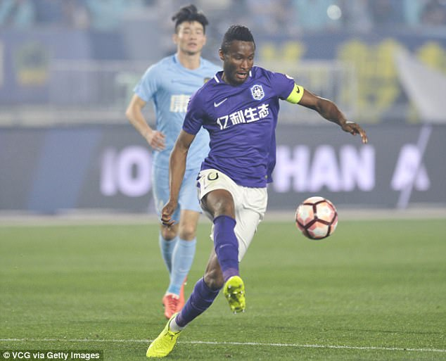 Tianjin Teda midfielder John Obi Mikel has dismissed reports linking him with Everton