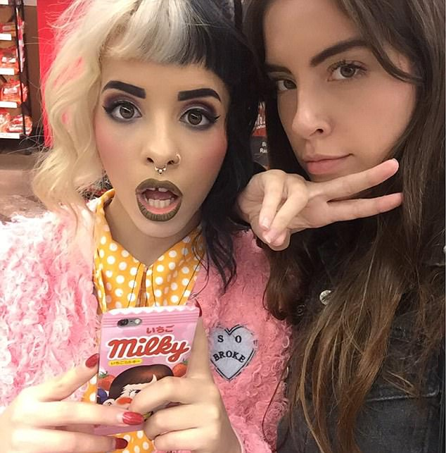 Timothy Heller (right) alleges to DailyMailTV that her former best friend, The Voice star, Melanie Martinez (left) raped her with a sex toy