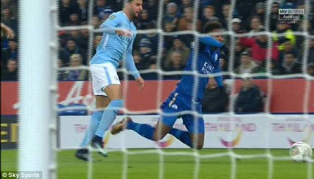 Guardiola was annoyed at an apparent dive by Demarai Gray to win a late penalty