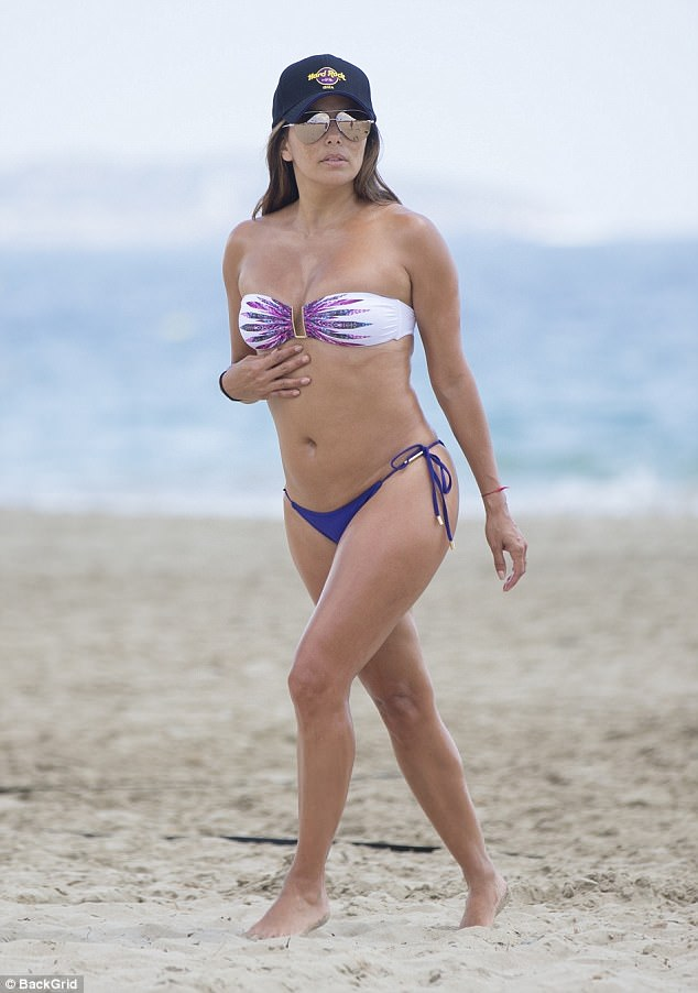 Wow factor: Eva last showed off her fantastic bikini body during a loved up trip to Ibiza, Spain in late July