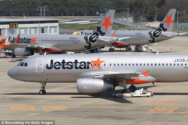 Jetstar said three of its flights had been cancelled and all affected passengers would be on the next available flight (stock image)