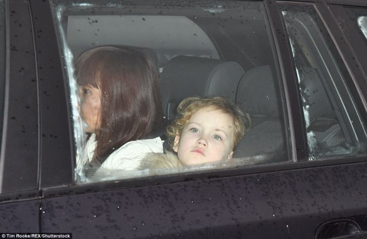 Among the young arrivals was Maud Windsor, who attends the same school as distant cousin Prince George