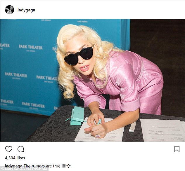 Big day: The Joanne singer confirmed she will have a residency at the MGM is Las Vegas with six Instagram posts shared on Tuesday