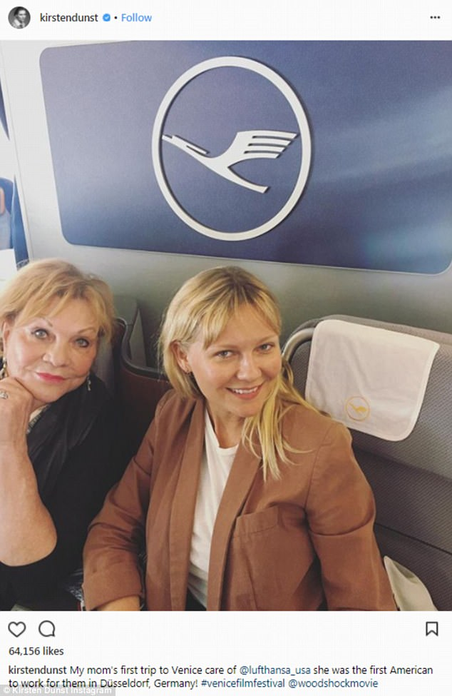 Good genes: In September, Kirsten shared a stunning makeup free selfie with her mom Inez
