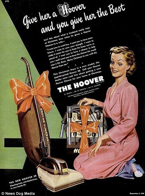 Sexist Christmas adverts for women who want hoovers  Daily Mail Online