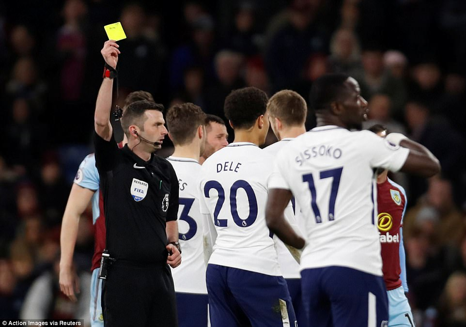 But referee Michael Oliver decided that a yellow card was a sufficient punishment for 21-year-old England international Alli