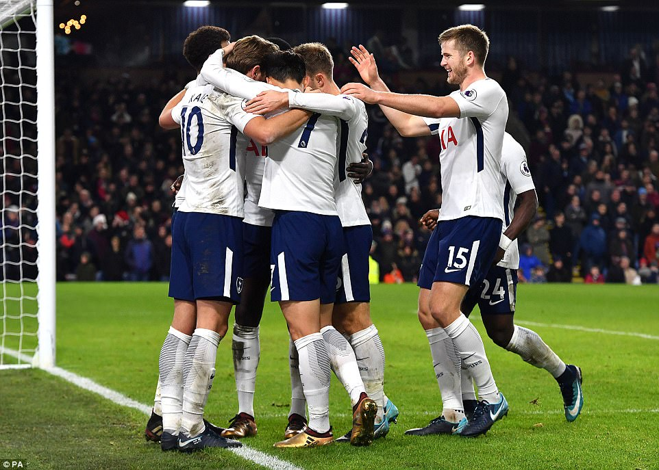 Tottenham's win saw them leapfrog Burnley and climb to fifth in the Premier League table after 19 rounds of fixtures