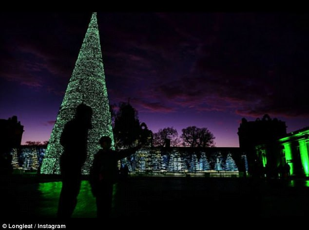 Tradition: The spectacular 50ft tree delights the young and the young at heart at Longleat