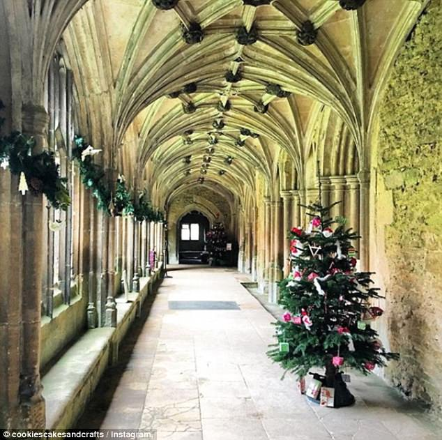 Steeped in history: One of the corridors at Lacock Abbey, a former nunnery in Wiltshire