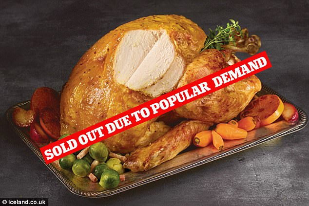 Ms Farrell called Iceland's customer service to rearrange the delivery but when it came the turkey and other items were still missing