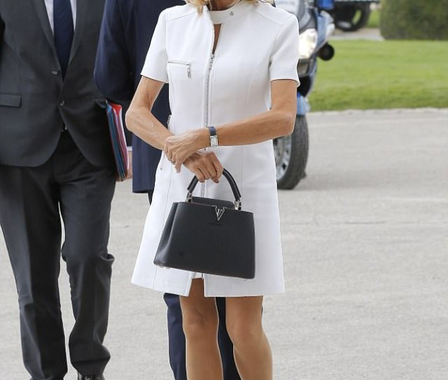 The Glamorous Brigitte Macron Pictured Frances First Lady Has Received Hundreds Of