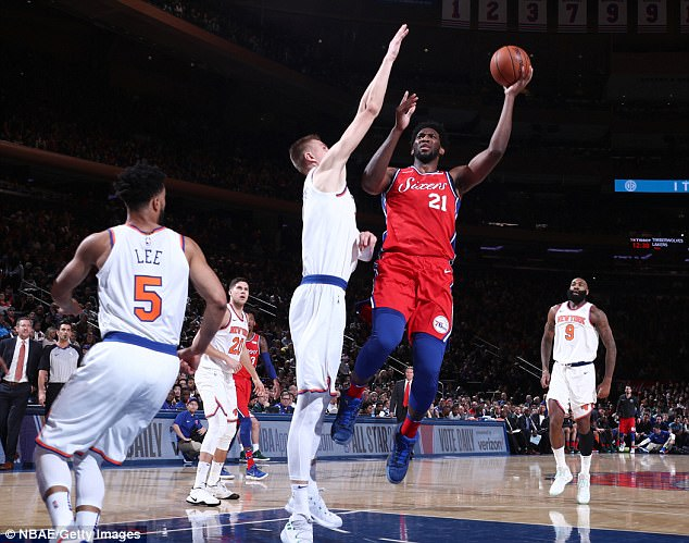 Streak over: Joel Embiid lead the way as the  Philadelphia 76ers snapped their five-game losing streak by beating the New York Knicks 105-98 at Madison Square Garden