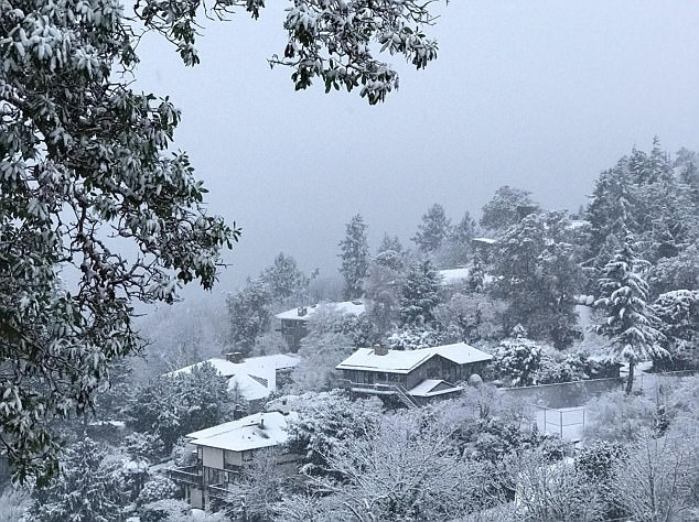A white Christmas for much of the Northeast, Midwest and West Coast has given way to bitter cold until the New Year for the regions. Pictured above is snow in Washington state