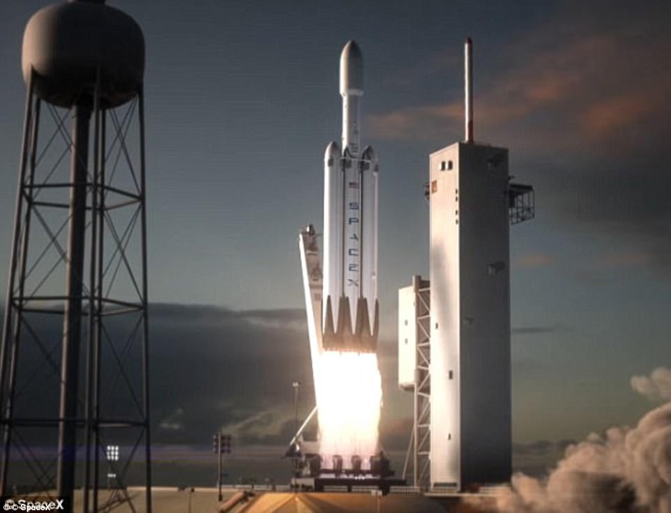 Musk founded SpaceX in 2002, with the aim of reducing space transportation costs and enabling the colonisation of Mars. The 46-year-old South African is also the CEO of Tesla, and predicts Falcon Heavy's (artist's impression) payload will stay in deep space for a while