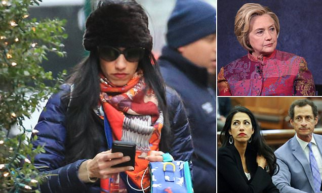 Huma Abedin takes son Jordan to Hillary Clinton offices