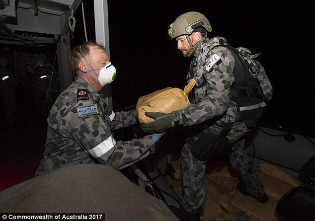 The operation was months in the making, co-ordinated by the Combined Maritime Forces and supported by Australian and Canadian staff