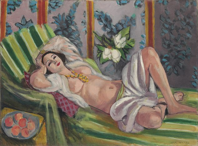 Matisse's 1923 work Odalisque With Magnolias, which is valued at $50 million (£37 million). The sale of his artwork could top $1 billion