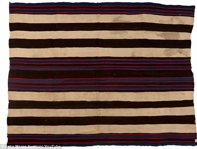 That old thing: The rare Navajo blanket was the highest priced item ever sold by John Moran Auctioneers