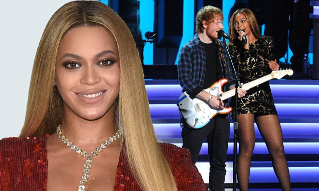 Beyonce Saw Ed Sheeran On Hootenanny Before Perfect Duet | Daily Mail Online