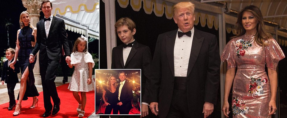 The Trumps arrive swanky Mar-a-Lago New Year's Eve bash