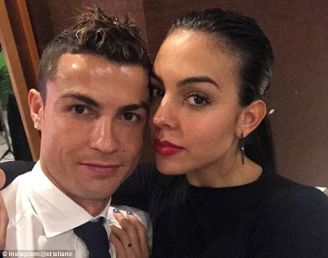 Cristiano Ronaldo celebrated with his family and his girlfriend, Georgina Rodriguez