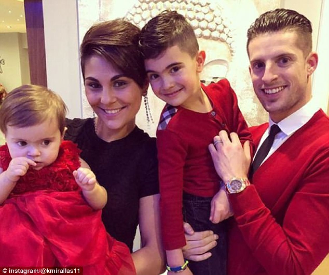 Everton's Kevin Mirallas courted controversy by wearing red, the colour of rivals Liverpool