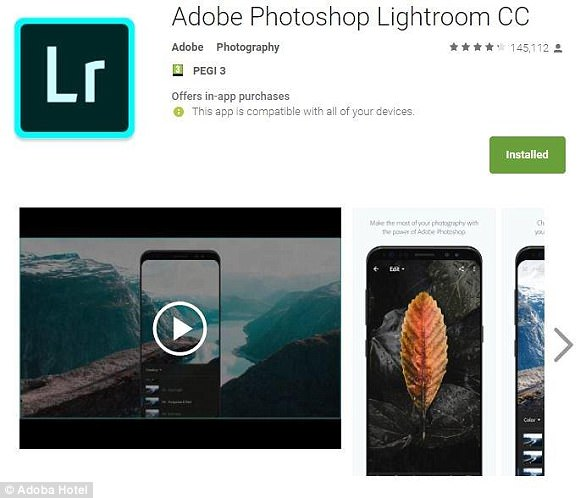 Adobe's Lightroom app, which is also available for iPhone, lets you enhance photos once they have been taken and get the most out of your Android's camera