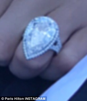 The ring features a 20 carat pear-shaped diamond on a platinum split shank halo band and is worth $2million