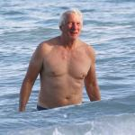 Richard Gere Spotted At The Beach In Mexico