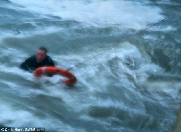 The actual person modified into swept into the sea by a large away crashing into Mullion Harbour