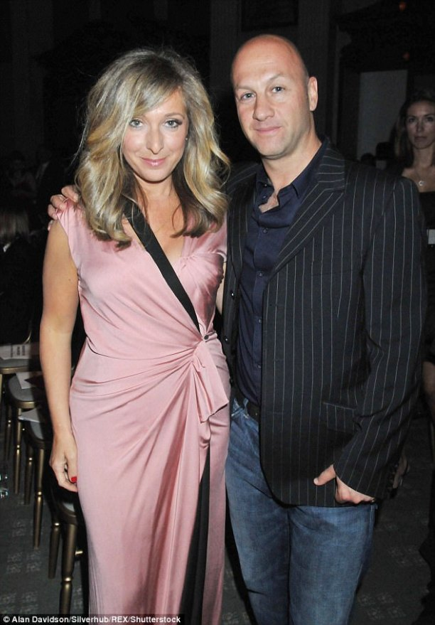 Miserable: Tracy-Ann Oberman and her husband Buy Cowan (pictured together in 2010)