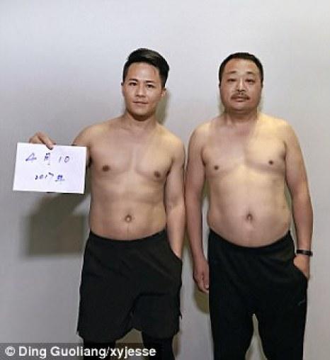El padre y el hijo saltaron a la fama después de que Guoliang publicara las imágenes en su cuenta de Instagram bajo el nombre de 'xyjesse'.  La foto fue tomada el 10 de abril de 2017