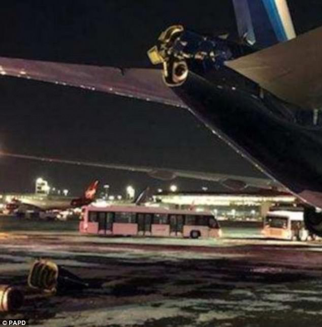 The passengers on the Kuwait-bound flight were booked into hotels and will be rescheduled on different flights