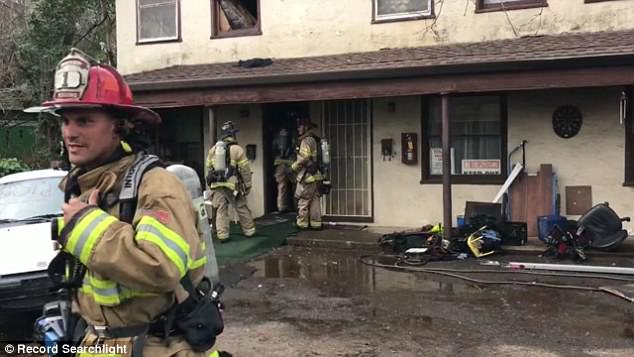 A man from California attempted to kill a spider using a torch lighter on Sunday however things didn't go to plan and it caused a fire at his apartment