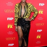 EJ Johnson In Versace at the Premiere of American Crime Story
