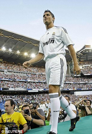 Ronaldo during his Real Madrid unveiling