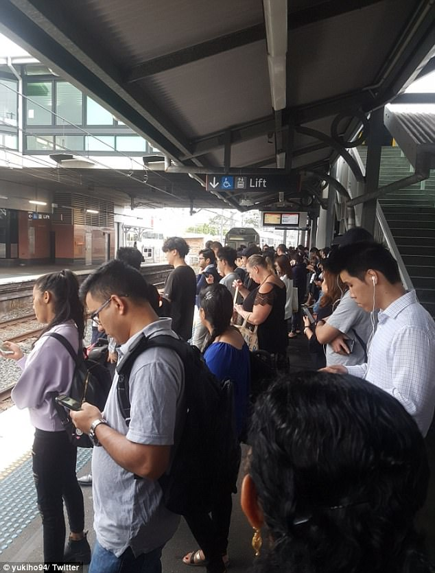 'And we repeat' wrote this social media user, showing delayed commuters just after 8am
