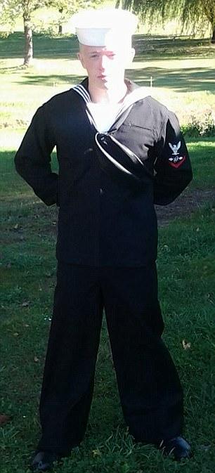 Kyler pictured in naval uniform before he died
