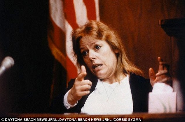 Wuornos, seen testifying in Florida in 1992, lost track of her 'moral compass', experts say