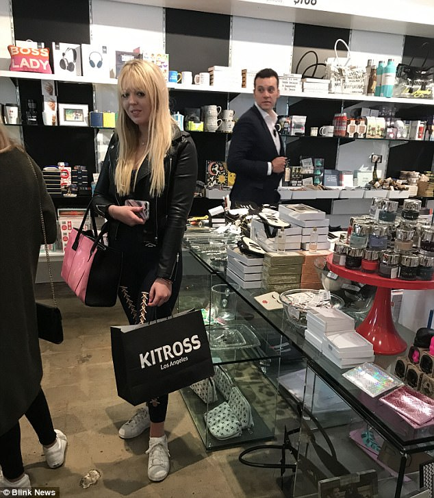 Kitson Kitross owner Fraser Ross told DailyMail.com: 'Tiffany definitely had a sense of humor about what we carry in the store pertaining to her Dad both good and bad. I think at this point she knows that it sort of comes with the territory!'