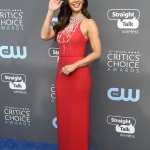 Olivia Munn Dazzle In Prada at the Critics' Choice Awards