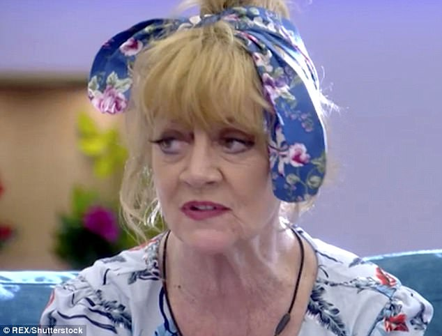 Happy days: Amanda Barrie was left stunned as she said: 'Wayne! Did you see that? That's the second time I've seen it' before Maggie went on: 'No, I daren't'