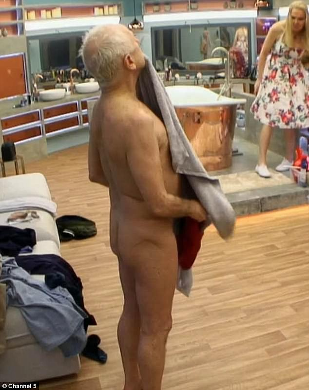 Oh my God! The 69-year-old ballet legend was seen jumping out of the shower while wrapped in a towel after which he was seen to cheekily open his towel and appear naked in a clip that aired on Celebrity Big Brother's Bit On The Side on Thursday evening
