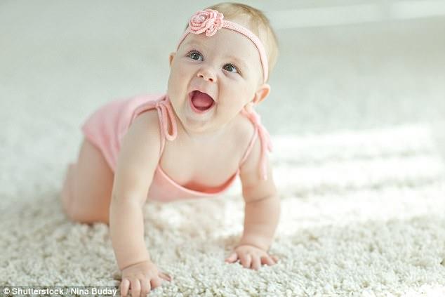 crawling babies kick up